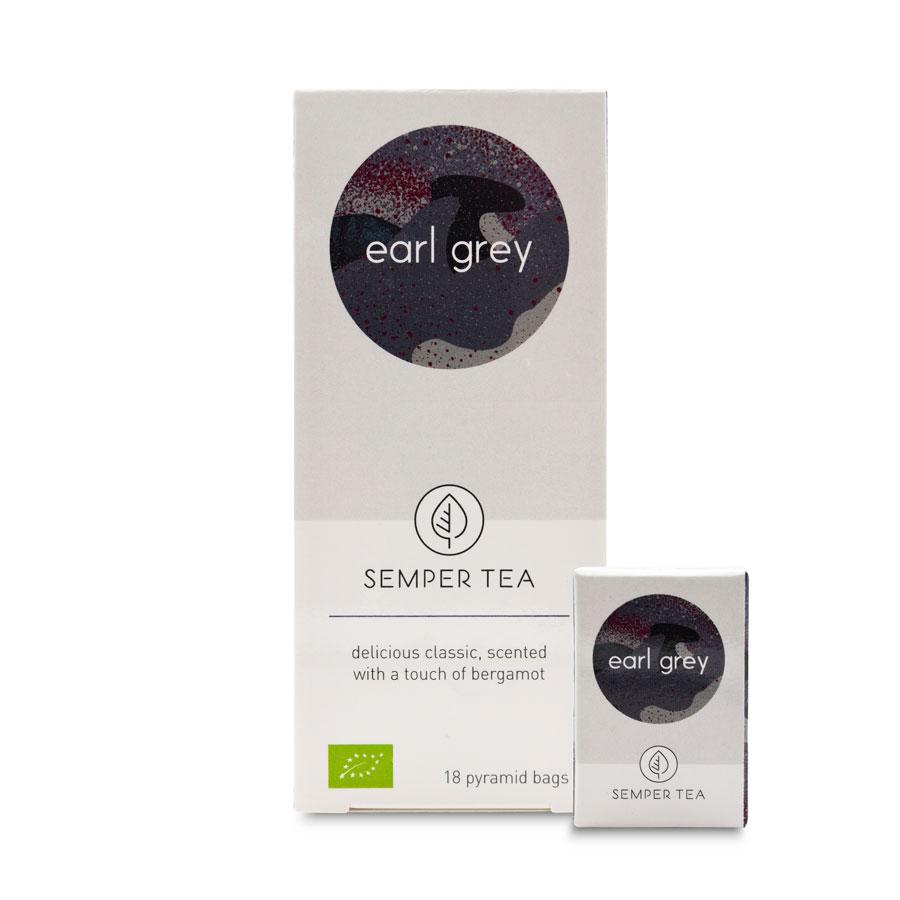 Comprar Earl Grey al mejor precio en bolsa pirámide Semper Tea