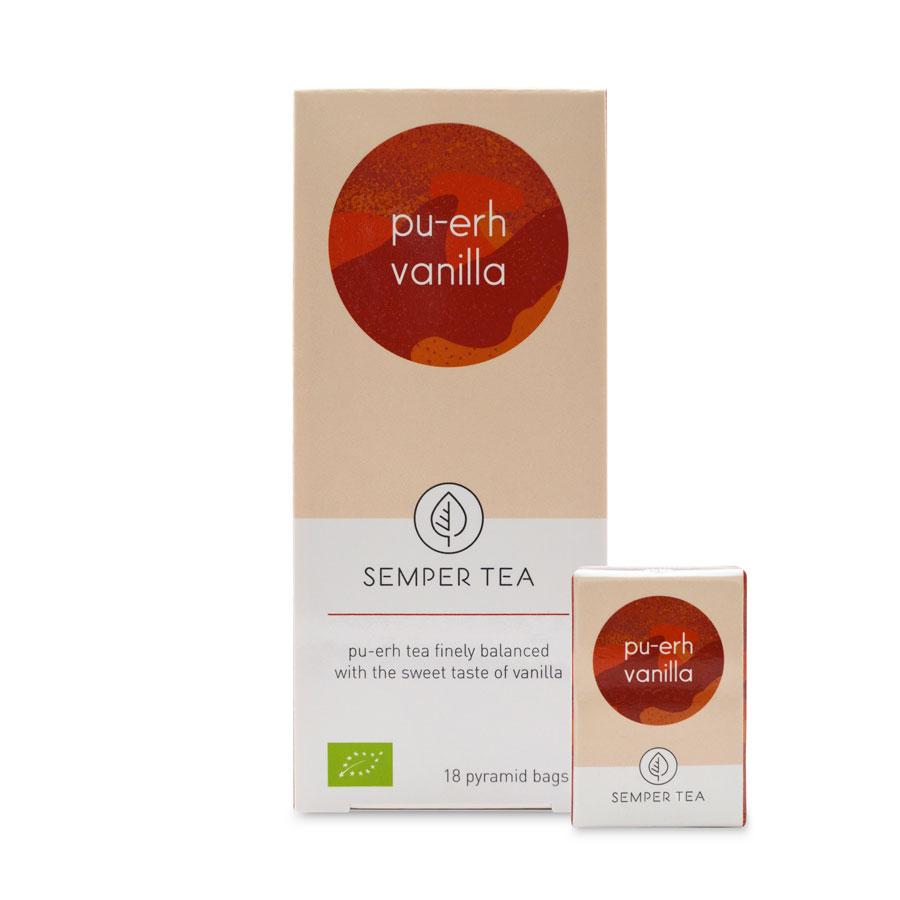 pu erh té rojo vainilla bio ecológico en pirámide pu erh vanilla semper tea