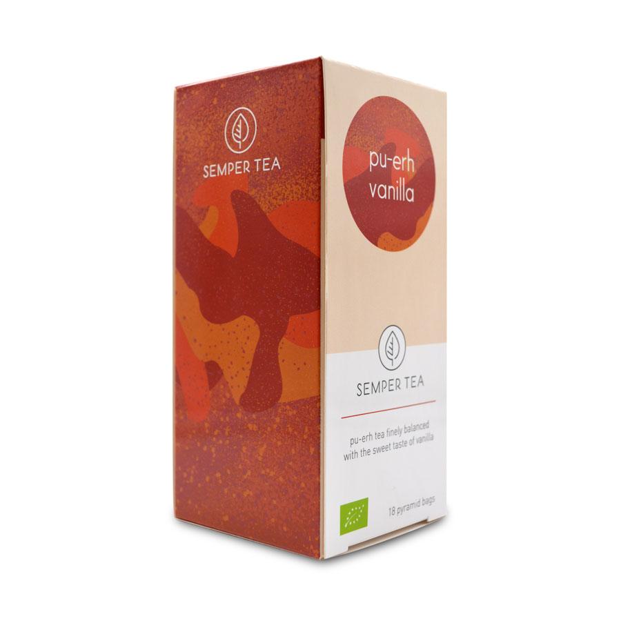 propiedades del te rojo pu erh piramide biodegradable vainilla semper tea