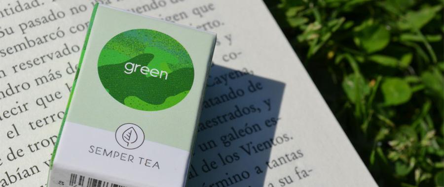 loser Grüner Tee im Pyramidenbeutel Semper Tea