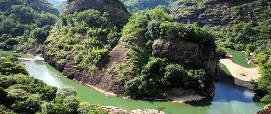 Region Wu Yi Shan oolong tee plantagen