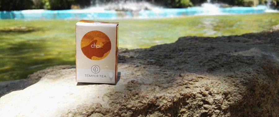SEMPER TEA té negro chai con especias jengibre clavo masala en bolsita piramidal