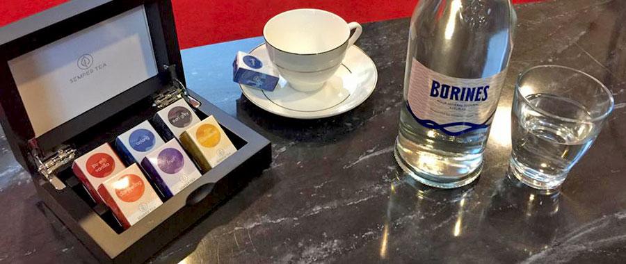 agua para una taza de té también debería tener un 0% de cloro