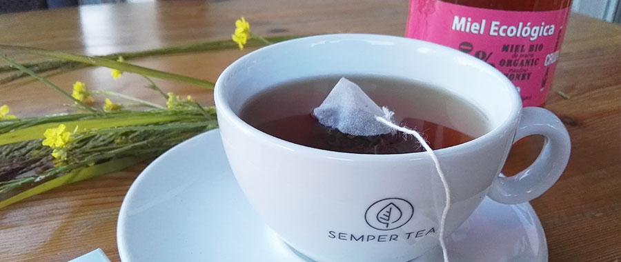 kleiner loeffel honig großer loeffel gegen bakterien grippeviren naturdis semper tea