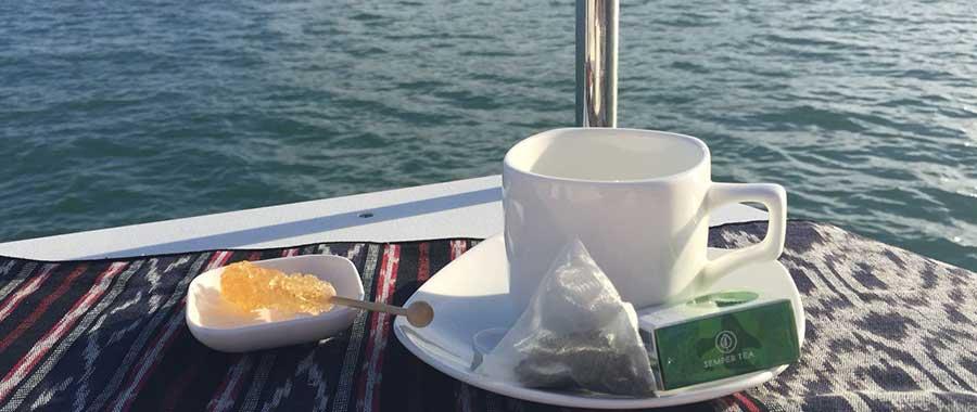 gastronomia para alta mar con una buena taza de te e infusion Semper tea