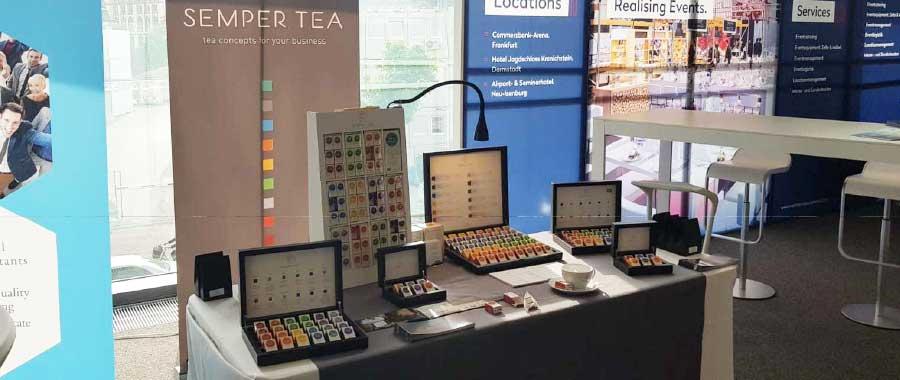 Tee fuer Besprechungen im Büro Semper tea working@office