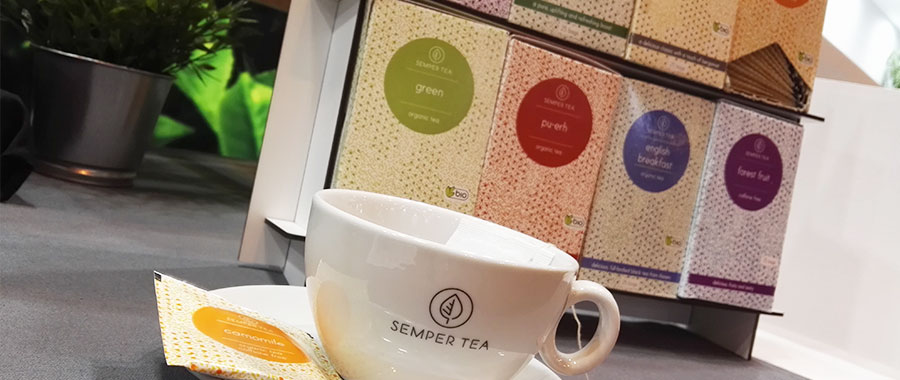 Teehandel und liefern Tees an Restaurant Hotels Semper tea