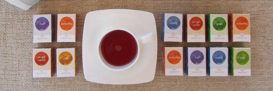 bolsa de té en pirámide biodegradabable para hojas de té entera