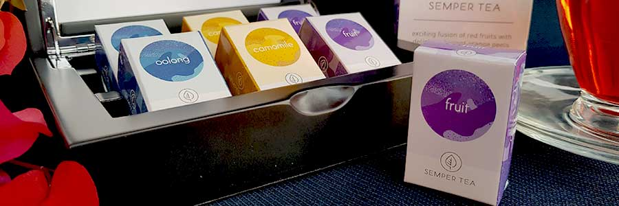 Luxury tea box with tea selection from all over the world