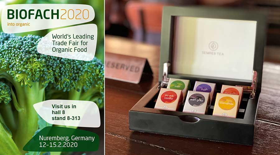 Organic tea company exhibits at BIOFACH 2020