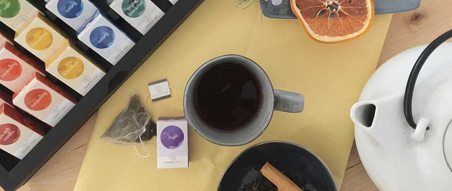premium organic tea in biodegradable pyramid tea bags semper tea