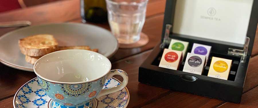 Gama de té ecológico con certificado para degustar