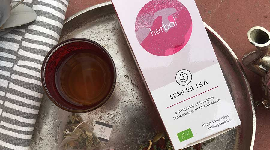 mint licorice herbal tea without caffeine semper tea