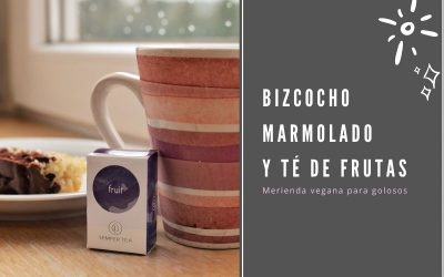Bizcocho marmolado y té de frutas | Una merienda vegana