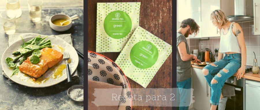 Recetas con té verde | Salmón pochado en té verde |