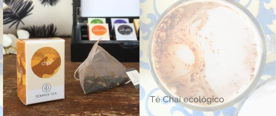 bebida refrescante te frio chai latte con hielo semper tea