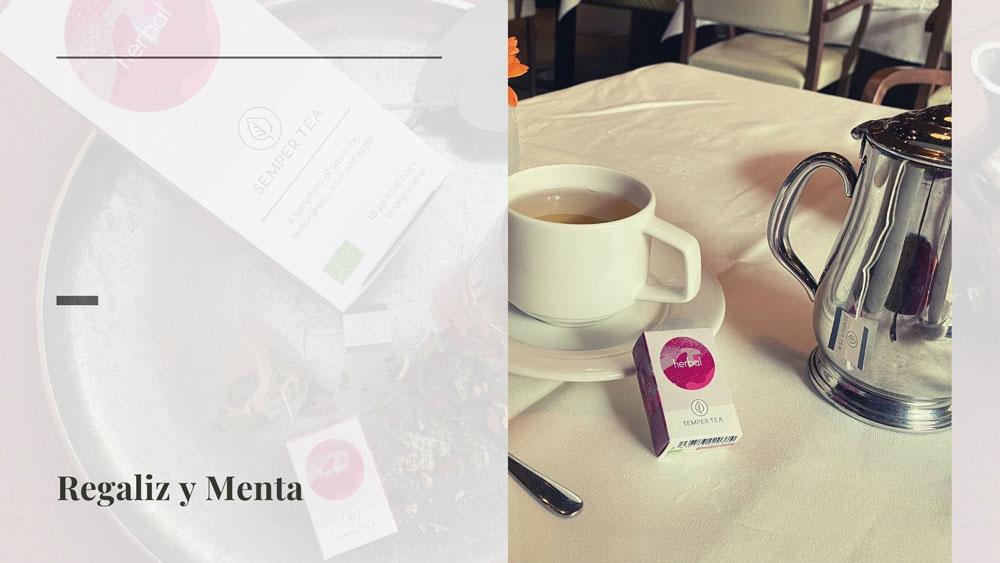 Té de hierbas Herbal: una mezcla de té orgánico, dulce y afrutado