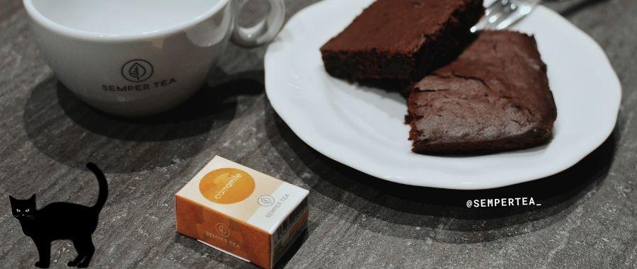Keto Brownies mit Kuerbis Halloween Party Semper Tea