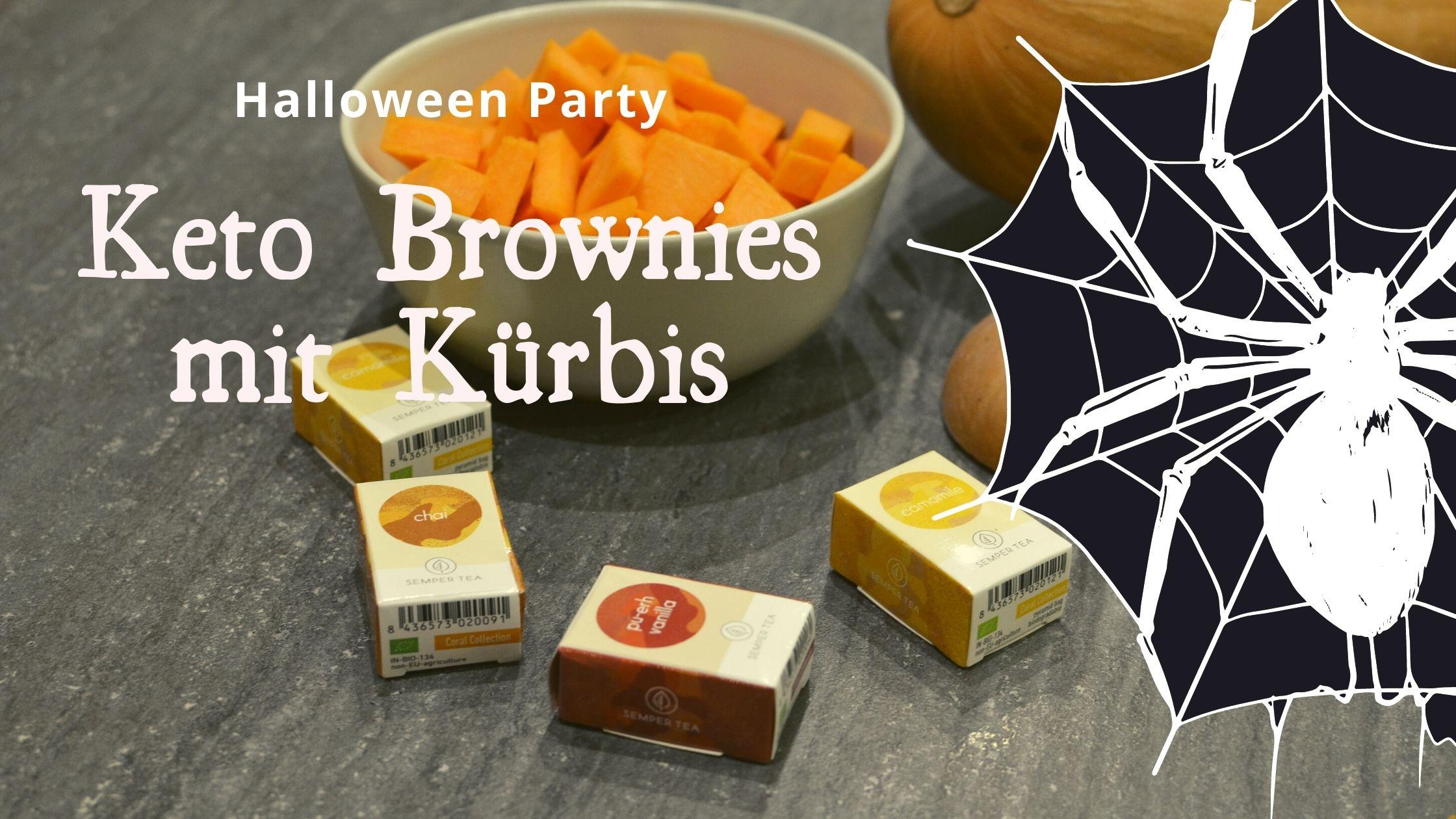 Keto Kuerbis Brownies Rezept Halloween Party Semper Tea