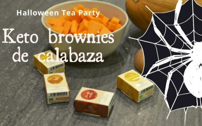 Keto brownies de calabaza para un Halloween Tea Party especial