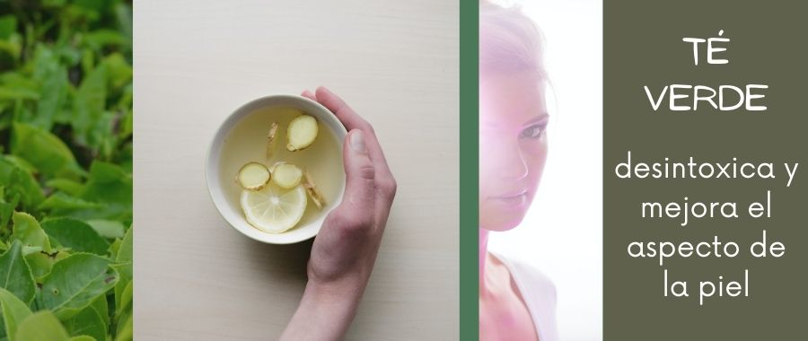 Té verde ecológico ayuda con el aspecto de la piel