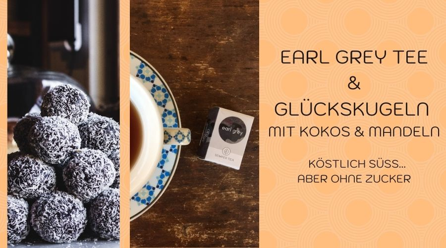 Snacks für Diabetiker | Earl Grey und Mandel-Kokos-Trüffel | Zuckerfrei